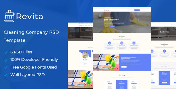Revita - Cleaning Service PSD Template - Business Corporate
