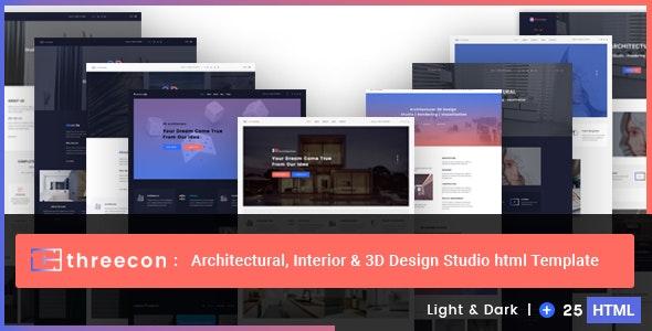 Threecon - Architectural, Interior & 3D Design Studio Html Template - Corporate Site Templates