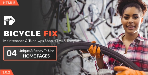 Bicycle Fix - Maintenance and Tune-Ups Shop HTML5 Template - Business Corporate