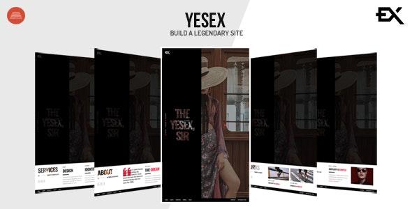 Yesex - Creative One Page Portfolio Template - Portfolio Creative