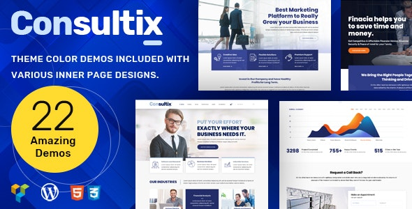 Consultix Consulting - Business Consulting WordPress Theme - Business Corporate