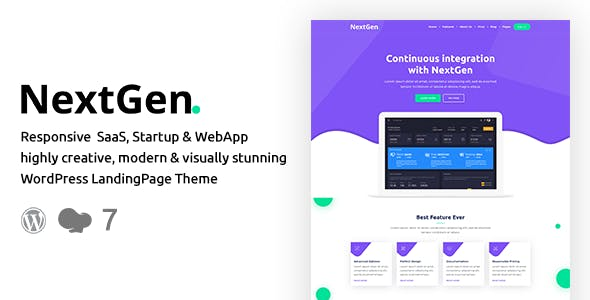 NextGen – Startup & WebApp WordPress Theme