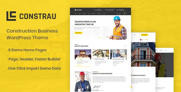 Constrau Construction Business WordPress Theme By Ovatheme