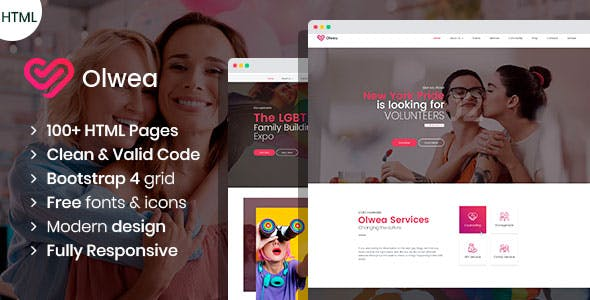 Olwea - LGBT Community HTML template nulled theme download