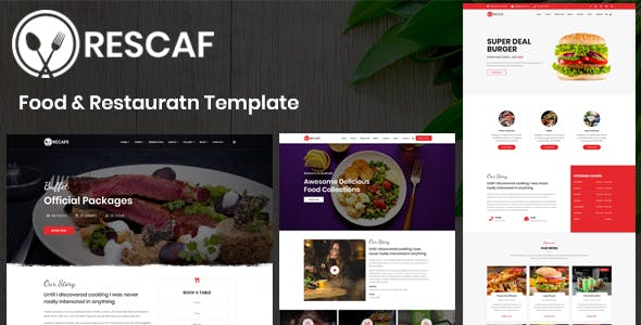 Recafe - Food & Restauratn Template nulled theme download