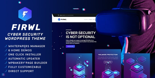 Firwl - Cyber Security WordPress Theme - Software Technology