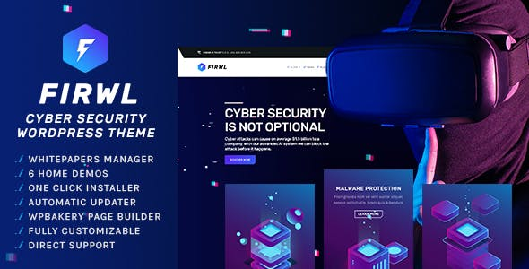 Firwl - Cyber Security WordPress Theme nulled theme download