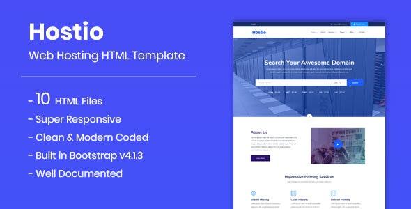 Hostio - Web Hosting HTML Template - Hosting Technology