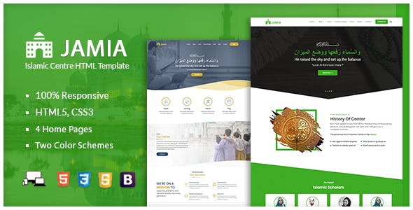 Jamia - Islamic Center Responsive HTML Template nulled theme download