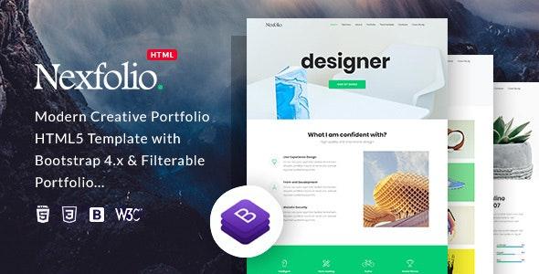 Nexfolio - Modern Creative HTML5 Portfolio Template - Portfolio Creative