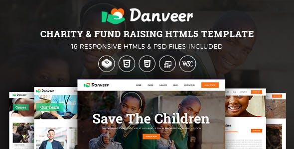 Danveer | Charity & Fund Raising Responsive HTML5 Template nulled theme download