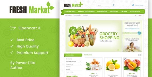 Fresh Market - OpenCart 2 & 3 Responsive Theme - OpenCart eCommerce