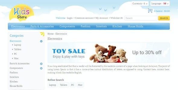 Kids Store - OpenCart Responsive Theme