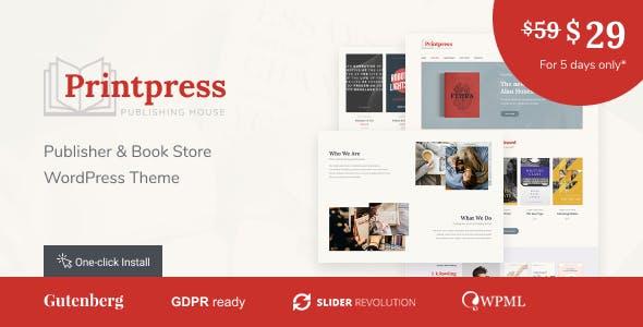 Printpress -  Book Publishing WordPress Theme nulled theme download
