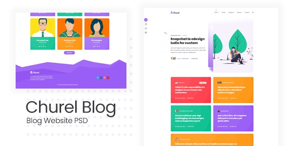 Churel - Blog Site PSD Template - Creative PSD Templates
