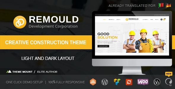 Remould | Construction & Building WordPress Theme - Business Corporate