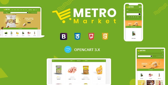 Metro Market - Grocery Store Opencart Theme - Health & Beauty OpenCart