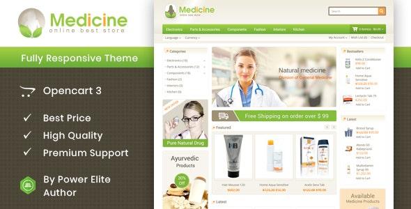 Medicine - Opencart Responsive Template - Health & Beauty OpenCart