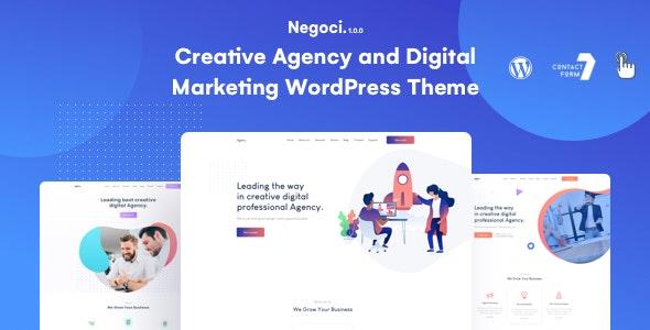 Negoci - Creative Agency and Digital Marketing WordPress Theme - Marketing Corporate
