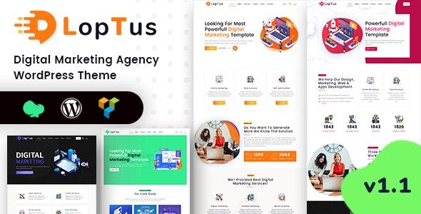 Loptus - Digital Marketing Agency WordPress Theme - Corporate WordPress