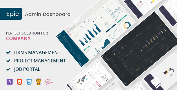 Epic HR - Bootstrap and Laravel Responsive Admin Template - Admin Templates Site Templates