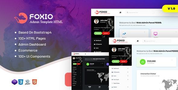 Foxio - Responsive Admin Dashboard Template - Admin Templates Site Templates