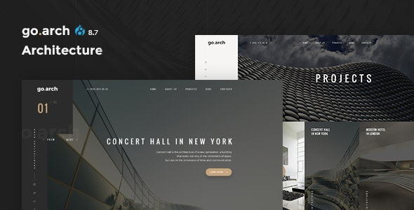go.arch - Architecture & Interior Drupal 8.8 Theme - Business Corporate