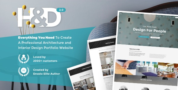 H&D 2.0 - Interior Design WordPress Theme - Business Corporate