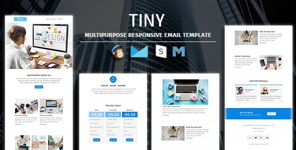 Tiny - Multipurpose Responsive Email Template - Newsletters Email Templates