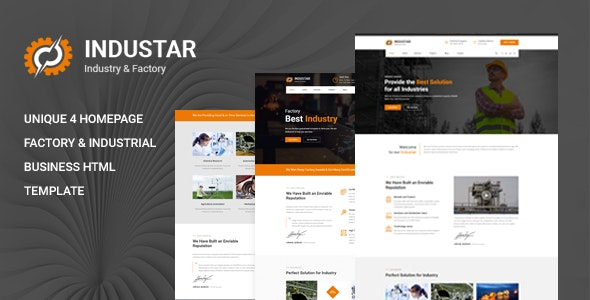 Industar - Industry & Factory HTML Template by template_path