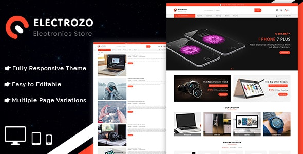 Electrozo - Responsive Multipurpose OpenCart 3 Theme - OpenCart eCommerce