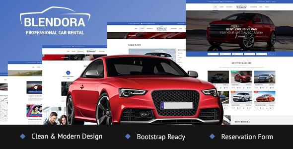 Blendora - Car Rental & Booking PSD template - PSD Templates