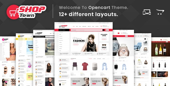 Shop Town - Multipurpose OpenCart 2 & 3 Theme - Shopping OpenCart