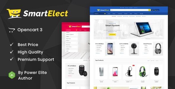 SmartElect - Multipurpose OpenCart 3 Theme - Shopping OpenCart