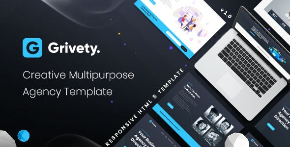 Grivety - Creative Multipurpose Agency Template by Vrunik