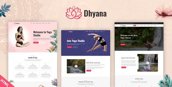 Dhyana - Yoga Studio & Meditation HTML Template - Health & Beauty Retail