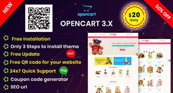 KidsToys OpenCart 3 X Multipurpose Theme by InspireTemplate