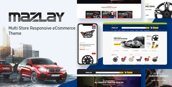 Mazlay - Car Accessories OpenCart Theme (Included Color Swatches) nulled theme download