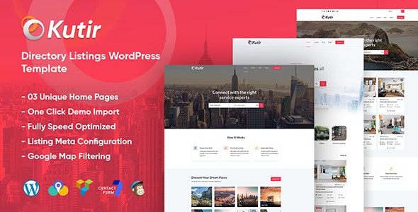 Kutir - Directory Listing WordPress Theme - Directory & Listings Corporate
