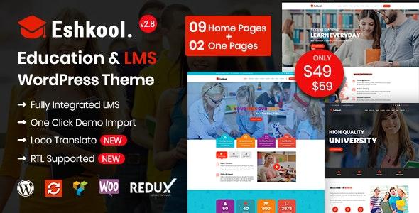 Eshkool - Education WordPress Theme - Education WordPress