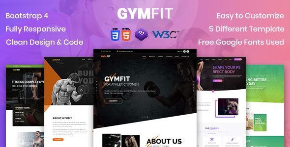 GYM FIT- Gym & Fitness HTML5 Responsive Template - Health & Beauty Retail