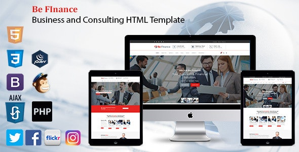 Be Finance - Business and Consulting HTML Template - Business Corporate