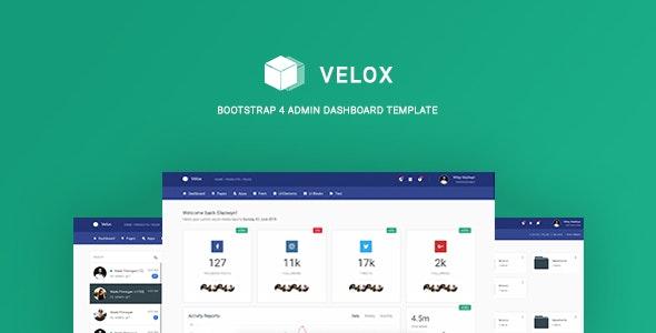 Velox - Bootstrap 4 Admin Dashboard Template - Admin Templates Site Templates