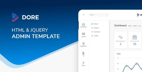 Dore jQuery - Bootstrap 4 Admin Template - Admin Templates Site Templates