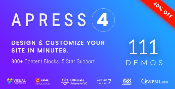 Apress -  Responsive Multi-Purpose Theme - Creative WordPress