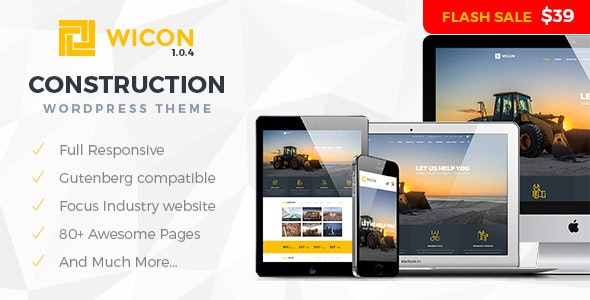 Wicon | Construction & Building WordPress Theme - Business Corporate