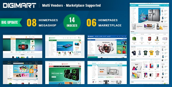Digimart | Multi Vendors - Marketplace PrestaShop 1.7 Theme (  Compatible JA Marketplace ) - Shopping PrestaShop