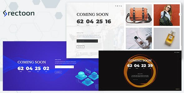 Rectoon - ReactJS Coming soon template nulled theme download