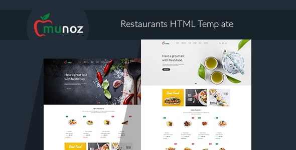 Munoz - Restaurant HTML Template - Food Retail