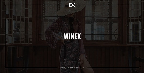 Winex - Creative Coming Soon Template - Under Construction Specialty Pages